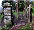 SO2714 : Kissing gate entrance to  St Peter's churchyard, Llanwenarth Citra, Monmouthshire by Jaggery