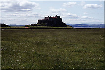 NU1341 : Lindisfarne Castle from near Broad Stones by Colin Park