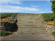 NZ3573 : Steps, Dukes Walk, Whitley Bay by Geoff Holland