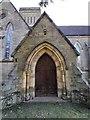 TQ5639 : St Paul's Church Door in Rusthall, Kent by John P Reeves