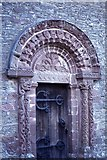 SO4430 : Kilpeck Church, Herefordshire - Norman south door by Colin Park