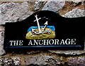 SX9372 : The Anchorage name sign, Shaldon by Jaggery