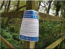 SS9712 : Tiverton : Police Sign by Lewis Clarke