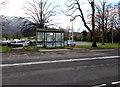 SO2814 : Bus stop and shelter near Nevill Hall Hospital, Abergavenny by Jaggery