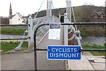 NT2540 : Bridge crossing notice, Priorsford Bridge Peebles by Jim Barton