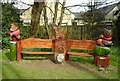 NS5573 : Memorial bench by Richard Sutcliffe