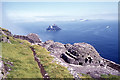V2460 : On Great Skellig - Beehive cells & view to Little Skellig by Colin Park