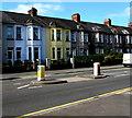ST3089 : Pedestrian refuge in the A4051 Malpas Road, Crindau, Newport by Jaggery