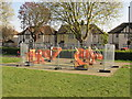 TQ2081 : Outdoor gym fenced off during coronavirus pandemic by David Hawgood