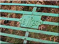 NY4016 : Plaque on bench beside the path to Boredale Hause by Graham Robson
