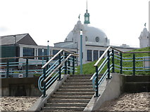 NZ3572 : Stairs, Northern Promenade, Whitley Bay by Geoff Holland