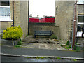 SE1423 : Bin store and memorial seat, Oddfellows Street, Brighouse by Humphrey Bolton
