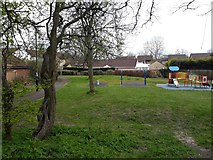 NZ2567 : Play area off Daylesford Drive, High Heaton, Newcastle upon Tyne by Graham Robson