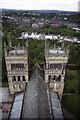 NZ2742 : West towers of Durham Cathedral as seen from Central Tower by Colin Park