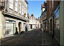 TG2308 : Elm Hill without any tourists in sight by Evelyn Simak
