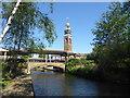 TQ4680 : Thamesmead Town Centre Clock by Marathon