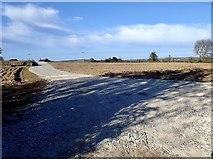 J3532 : Field access road at Barbican Farm by Eric Jones