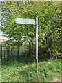 NZ3271 : Public Footpath Sign near South Wellfield by Geoff Holland