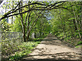 SE2634 : Access track to Kirkstall Valley Nature Reserve by Stephen Craven