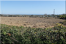 J3532 : Ploughed land next to the Middle Tollymore Road by Eric Jones