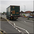 ST3090 : Travis Perkins lorry, Malpas Road, Newport by Jaggery