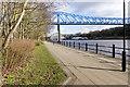 NZ2463 : Northern end of the Queen Elizabeth Bridge by Trevor Littlewood
