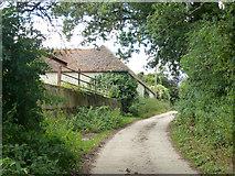 SU8518 : Farm road, Church Farm, Bepton by Robin Webster