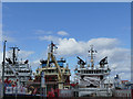 NJ9406 : Supply ships in Albert Basin, Aberdeen by Stephen Craven