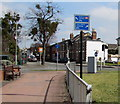 SO9221 : Cycle route direction signs on the north side of Gloucester Road, Cheltenham by Jaggery