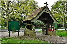 TM1469 : Thorndon, All Saints Church: Lych gate by Michael Garlick
