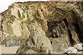 SX6643 : Cliffs south of Bantham Sand by Derek Harper