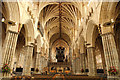 SX9292 : Exeter Cathedral nave by Richard Croft