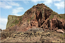 SX6643 : Cliffs by the Long Stone by Derek Harper