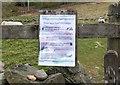 NT2439 : Covid-19 notice, John Buchan Way Peebles by Jim Barton
