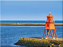 NZ3668 : The Herd Groyne Lighthouse, South Shields by David Dixon