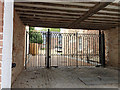 SP2864 : Gated entrance to courtyard and new houses, Jury Place, Jury Street, Warwick by Robin Stott