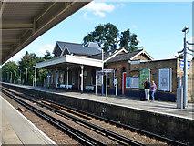 TQ1572 : Down platform, Strawberry Hill by Robin Webster