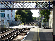 TQ1572 : Strawberry Hill level crossing and junction by Robin Webster