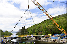 NY4724 : The new Pooley Bridge is safely in position by Cumbria County Council