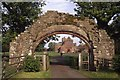 NY5563 : Lanercost Priory Gateway by Colin Park