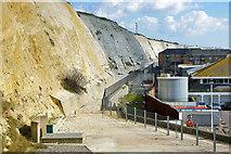 TQ3303 : Undercliff Walk, Brighton Marina, 2010 by Robin Webster