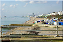 TQ3303 : Sea front west from Brighton Marina by Robin Webster