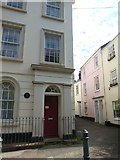 SX9192 : House with commemmoratve plaque, Bartholomew Street West, Exeter by David Smith