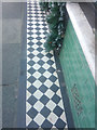 SH7777 : Tiled pavement at the front of a shop on Bangor Road, Conwy by Meirion