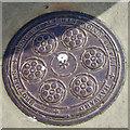 TQ1402 : Coal plate, Heene Terrace, Worthing by Robin Webster