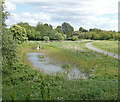 SK5907 : Flood relief basin next to the River Soar by Mat Fascione