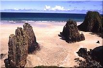 NB5349 : Traigh Ghearadha, rock stacks by Colin Park