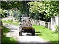 NY9449 : Trailer full of fodder root crops by Oliver Dixon