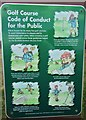 NO3901 : Notice on golf course by Bill Kasman