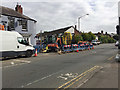SP2965 : The hole in Emscote Road is put to use, Warwick by Robin Stott